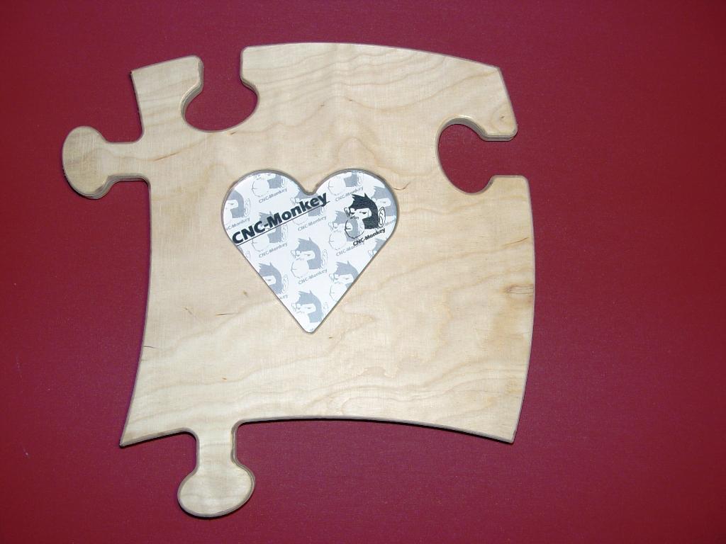 CNC-Monkey - 2 Stk. Puzzle - Bilderrahmen - Herz