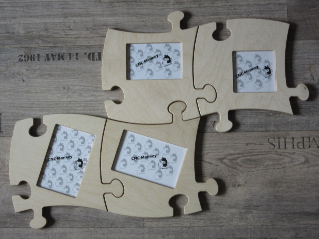 CNC-Monkey - 2 Stk. Puzzle - Bilderrahmen - 10x15