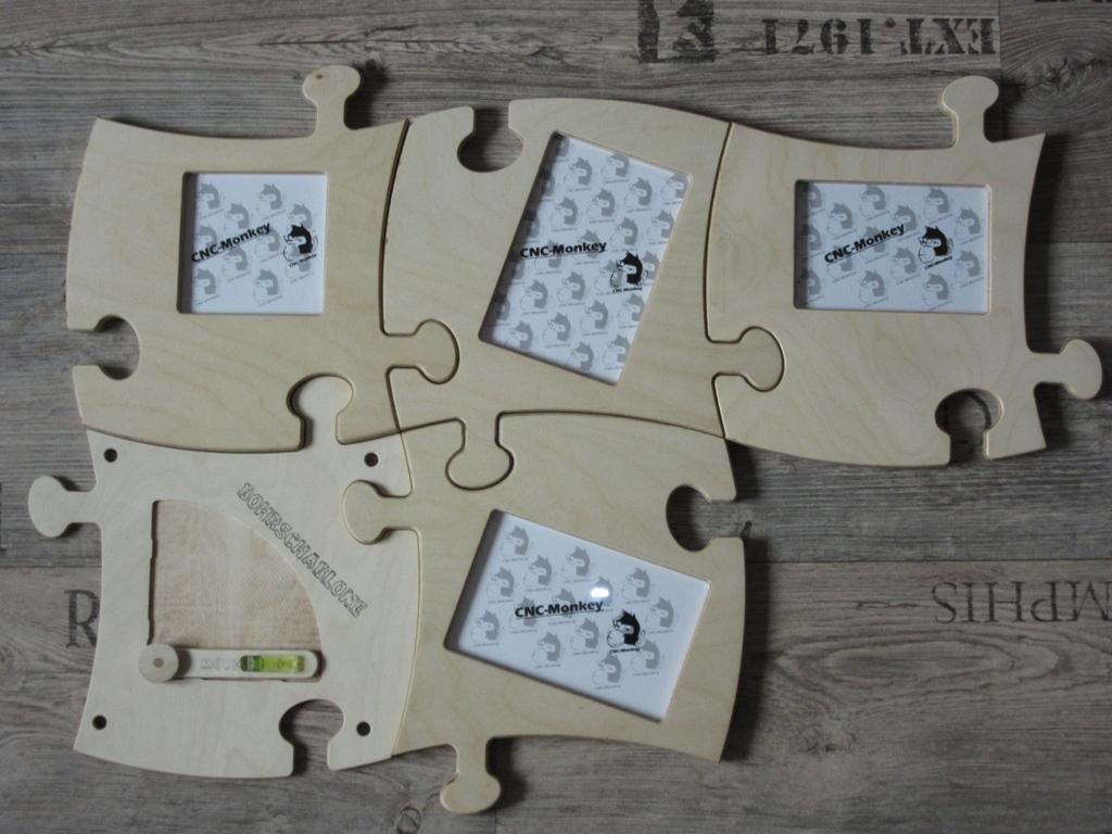 CNC-Monkey - Puzzle - Bilderrahmen - Starter-SET 1